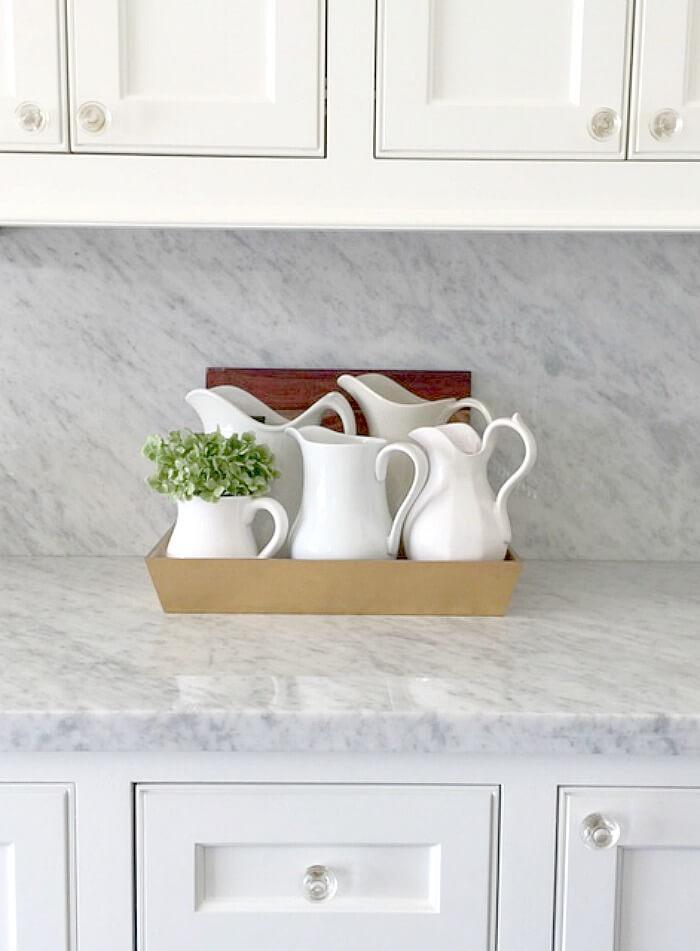 Carrara marble countertops